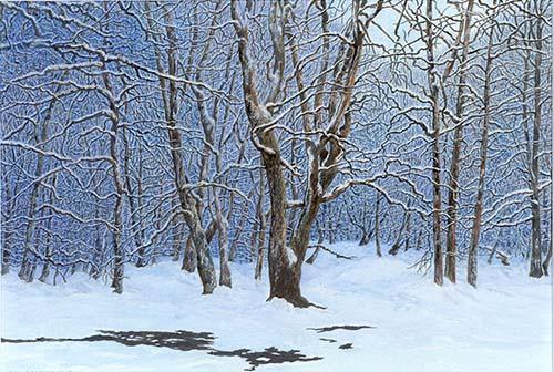 Snow on Epsom Common